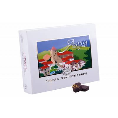 Boîte cadeau de chocolats fins  Lait et Noir