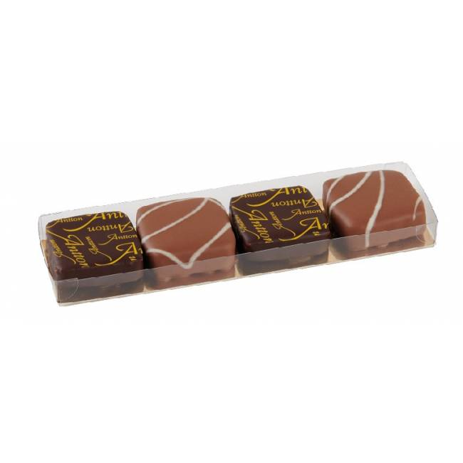 Etui de ganaches de chocolat Noir et Lait