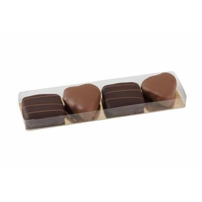 Etui de pralinés de chocolats Noir et Lait