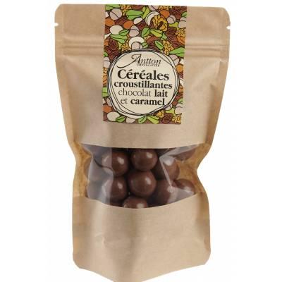 Bille de céréale enrobée de chocolat Lait caramel