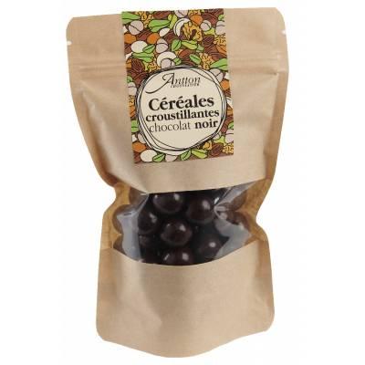 Bille de céréale enrobée de chocolat Noir