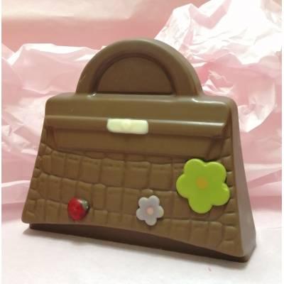 Moulage sac à main en chocolat au Lait