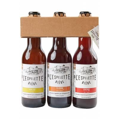 Le trio de bières d'Espelette
