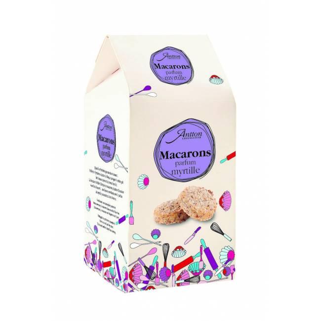 Macarons parfum myrtille, 165g